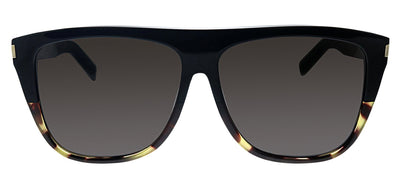 Saint Laurent SL 1 027 Square Plastic Black Sunglasses with Black Lens