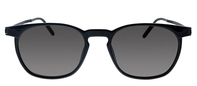 Saint Laurent SL 240 002 Rectangle Metal Black Sunglasses with Grey Lens