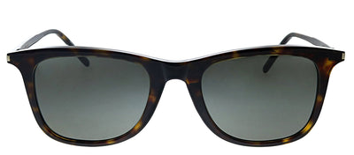 Saint Laurent SL 304 007 Square Plastic Havana Sunglasses with Grey Polarized Lens