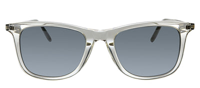Saint Laurent SL 304 010 Square Plastic Clear Sunglasses with Silver Polarized Lens