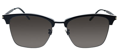 Saint Laurent SL 340 001 Square Plastic Black Sunglasses with Black Polarized Lens