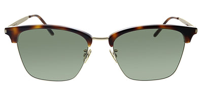 Saint Laurent SL 340 003 Square Plastic Havana Sunglasses with Green Polarized Lens