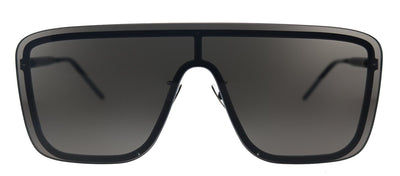 Saint Laurent SL 364Mask 002 Square Plastic Black Sunglasses with Grey Lens