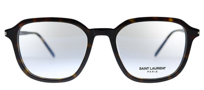 Saint Laurent SL 387 002 Geometric Plastic Havana Eyeglasses with Demo Lens