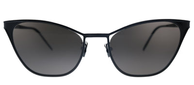 Saint Laurent SL 409 002 Cat-Eye Metal Black Sunglasses with Black Lens