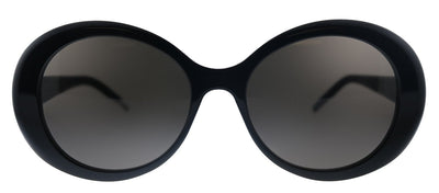 Saint Laurent SL 419 001 Round Plastic Black Sunglasses with Black Lens