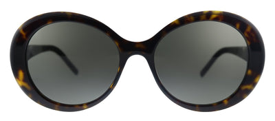 Saint Laurent SL 419 003 Round Plastic Havana Sunglasses with Grey Lens