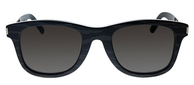 Saint Laurent SL 51 048 Rectangle Plastic Black Sunglasses with Grey Lens