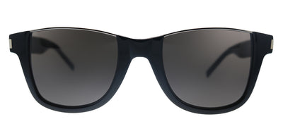 Saint Laurent SL 51 CUT 001 Square Plastic Black Sunglasses with Black Lens