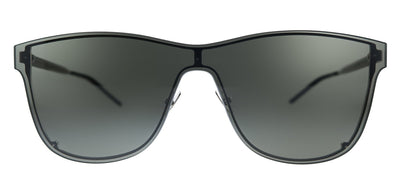Saint Laurent SL 51 OVER MASK 002 Square Metal Black Sunglasses with Grey Lens