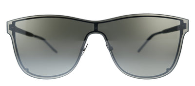 Saint Laurent SL 51 OVER MASK 003 Square Metal Silver Sunglasses with Silver Mirror Lens