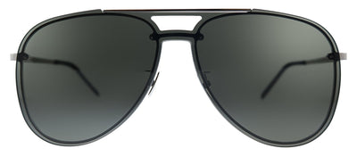 Saint Laurent SL CLASSIC11 MASK 001 Aviator Metal Silver Sunglasses with Grey Lens