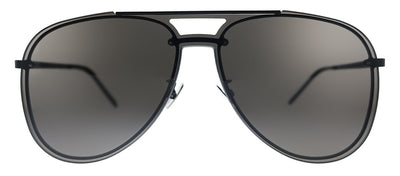 Saint Laurent SL CLASSIC11 MASK 002 Aviator Metal Black Sunglasses with Black Lens