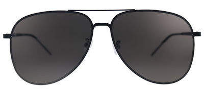 Saint Laurent SL Classic11Slim 002 Aviator Metal Black Sunglasses with Grey Lens