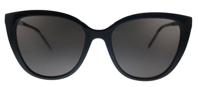 Saint Laurent SL M70 001 Cat-Eye Plastic Black Sunglasses with Black Lens
