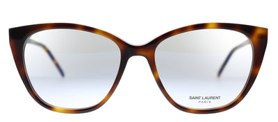 Saint Laurent SL M72 004 Cat-Eye Plastic Havana Eyeglasses with Demo Lens