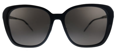 Saint Laurent SL M78/F 001 Oversized Plastic Black Sunglasses with Black Lens