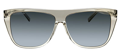 Saint Laurent SL SLIM1 007 Square Plastic Silver Sunglasses with Silver Lens
