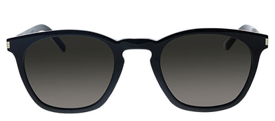 Saint Laurent SL SLIM28 001 Geometric Plastic Black Sunglasses with Black Polarized Lens