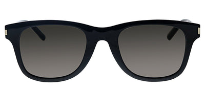 Saint Laurent SL SLIM51-B 001 Square Plastic Black Sunglasses with Grey Gradient Lens