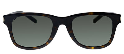Saint Laurent SL SLIM51-B 003 Square Plastic Havana Sunglasses with Grey Gradient Lens