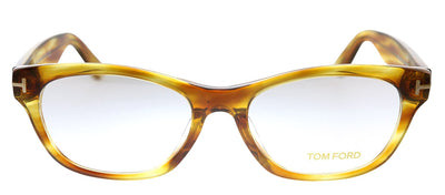 Tom Ford TF 5425F 055 Rectangle Plastic Havana Eyeglasses with Demo Lens