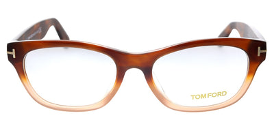 Tom Ford TF 5425F 56A Rectangle Plastic Havana Eyeglasses with Demo Lens