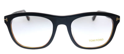 Tom Ford TF 5480F 001 Square Plastic Black Eyeglasses with Demo Lens