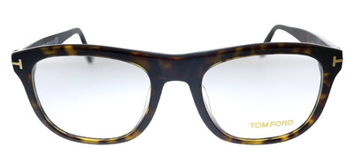Tom Ford TF 5480F 052 Square Plastic Havana Eyeglasses with Demo Lens
