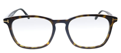 Tom Ford TF 5505D 052 Square Plastic Havana Eyeglasses with Demo Lens