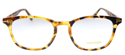 Tom Ford TF 5505F 055 Square Plastic Tortoise Eyeglasses with Demo Lens