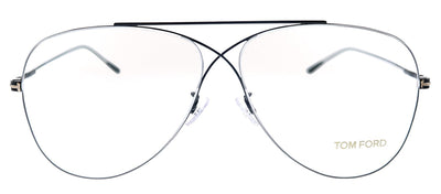 Tom Ford TF 5531F 001 Butterfly Metal Black Eyeglasses with Demo Lens