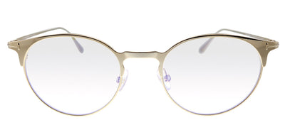 Tom Ford TF 5548B 025 Oval Metal Gold Eyeglasses with Demo Lens