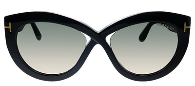 Tom Ford TF 577F 01B Butterfly Plastic Black Sunglasses with Grey Gradient Lens
