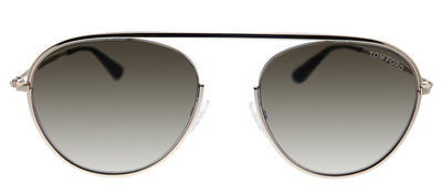 Tom Ford TF 599 28K Keith-02 Aviator Metal Rose Gold Sunglasses with Grey Gradient Lens