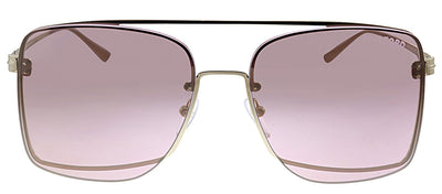 Tom Ford TF 655 28Z Pillow Metal Gold Sunglasses with Pink Lens