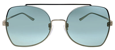 Tom Ford TF 656 28Q Pilot Metal Gold Sunglasses with Green Mirror Lens