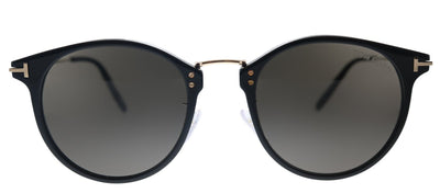 Tom Ford Jamieson TF 673 01A Round Plastic Black Sunglasses with Grey Lens