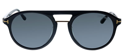 Tom Ford TF 675F 01A Pilot Plastic Black Sunglasses with Grey Gradient Lens
