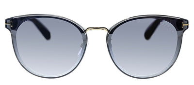 Tom Ford TF 725K 20B Pilot Plastic Blue Sunglasses with Silver Mirror Lens