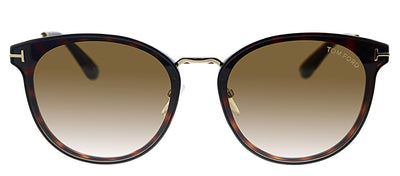 Tom Ford TF 725K 54F Pilot Plastic Tortoise Sunglasses with Brown Gradient Lens