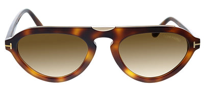 Tom Ford TF 737 53F Pilot Plastic Havana Sunglasses with Brown Gradient Lens