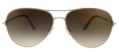 Tom Ford Clark TF 823 28F Aviator Metal Gold Sunglasses with Brown Gradient Lens