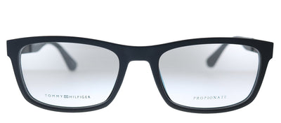 Tommy Hilfiger TH 1522 003 Rectangle Plastic Matte Black Eyeglasses with Demo Lens