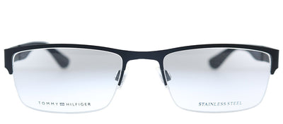 Tommy Hilfiger TH 1524 003 Rectangle Plastic Black Eyeglasses with Demo Lens
