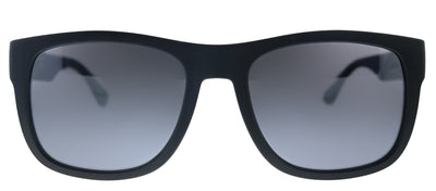 Tommy Hilfiger TH 1556/S D51 Rectangle Plastic Black Blue Sunglasses with Silver Mirror Lens