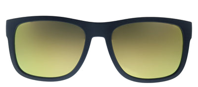 Tommy Hilfiger TH 1556/S DCD Rectangle Plastic Blue Yellow Sunglasses with Gold Mirror Lens