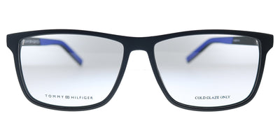 Tommy Hilfiger TH 1696 D51 Rectangle Plastic Black Blue Eyeglasses with Demo Lens