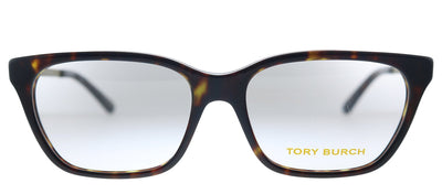 Tory Burch TY 2107 1800 Square Plastic Dark Tortoise Eyeglasses with Demo Lens