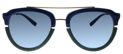 Tory Burch TY 6072 17818F Pilot Plastic Havana Sunglasses with Purple Gradient Lens